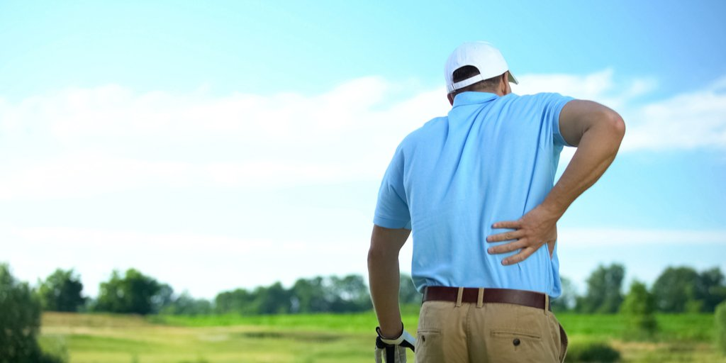Golf-thritis pain in back